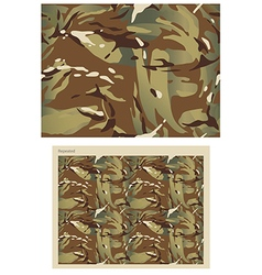 Camouflage repeat print - vector