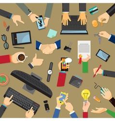 Set of hands flat design vector image