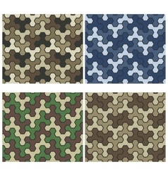 Seamless Camouflage Geometric Pattern Set Three vector image