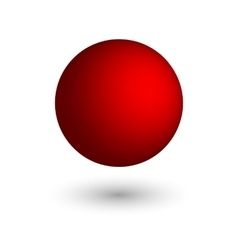 Red ball vector