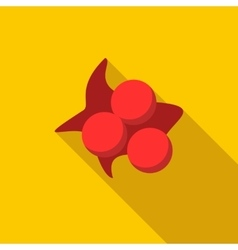 Three balls with paint spot icon flat style vector
