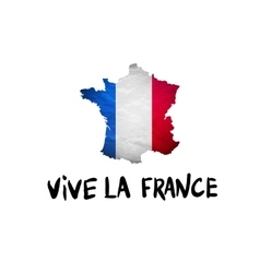 Vive la france message and national french vector