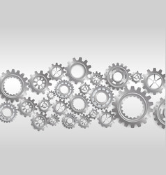 abstract gears on black background vector image vector image