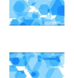 Abstract geometric blue hexagons flyer vector
