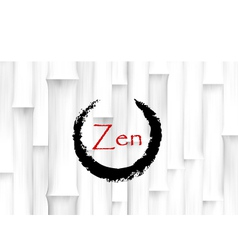 Bamboo Background with Zen Circle Symbol vector image vector image