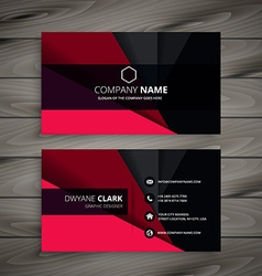 Black and red business card vector
