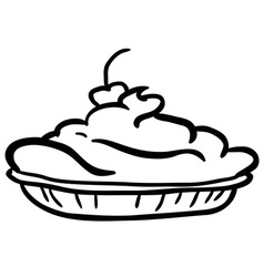 black and white pie vector image vector image