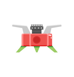 Camping stove furnace travel tourist heater icon vector