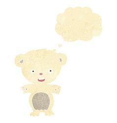 Cartoon polar bear with thought bubble vector