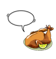 cooked turkey-100 vector image