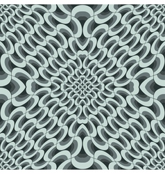 geometric petals grid vector image vector image