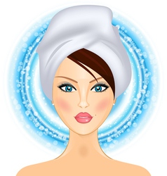 girl with towel vector image