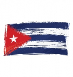 grunge Cuba flag vector image vector image