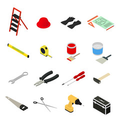 Home repair icons set isometric view vector