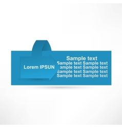 Horizontal Sample stickers for various banner vector image