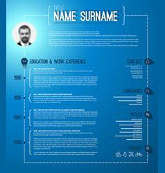 Minimalistic cv resume template vector