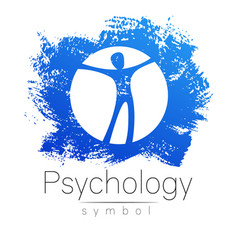 modern man sign of psychology human in a circle vector image vector image
