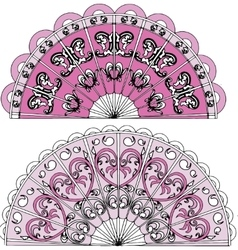 ornament fan vector image