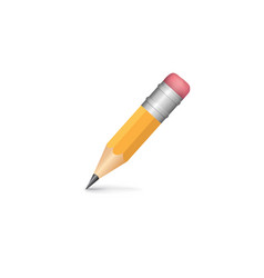 pencil isolated with shadow on white background vector image