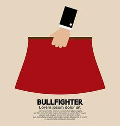 Red fabric of bullfighter vector