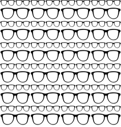 seamless pattern of sunglasses frames vector image