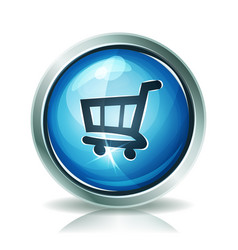 shopping cart icon vector image
