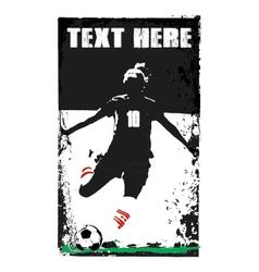 Soccer girl poster vector