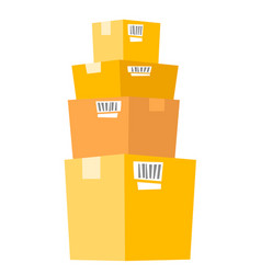 stack of cardboard boxes vector image