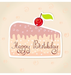 sticker cake vector image vector image