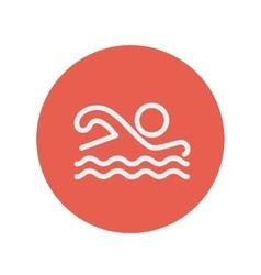 Swimmer thin line icon vector