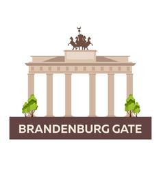 Travel to germany brandenburg gate vector