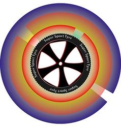 Tyre design vector
