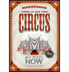 vintage old circus poster vector image