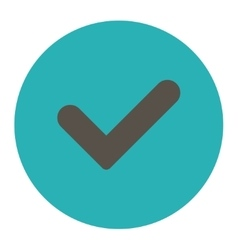 Yes flat grey and cyan colors round button vector