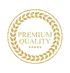 Art golden medal icon sign premium quality vector