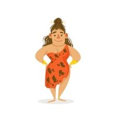 Curvy woman with tangled hair cartoon vector