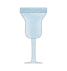 Drawing glass cup cocktail drink beverage vector
