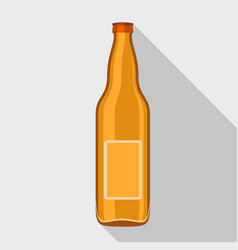 beer bottle icon flat style vector image