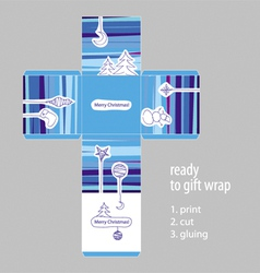 Christmas gift ready packaging vector