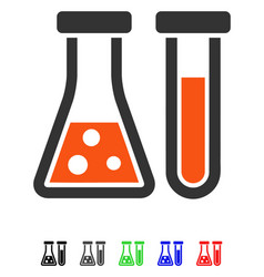 Chemistry flat icon vector