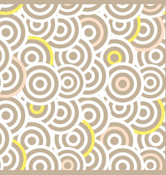 Overlapping striped circles seamless vector