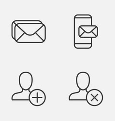 Network icons set collection of insert phone vector