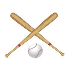 Baseball Bat and Ball2 vector image