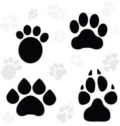 Paws and claws print vector