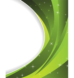 Sparkling green background vector