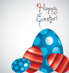 Happy easter egg card in format vector