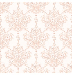 Vintage botanical damask seamless pattern vector