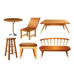 Set of chairs and tables vector