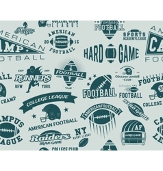 College rugby and american football team seamless vector