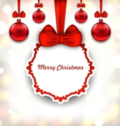 Merry christmas background with celebration card vector